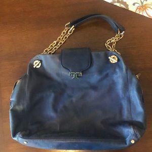 Tory Burch navy/gold handbag